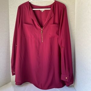 Avenue berry blouse 18/20